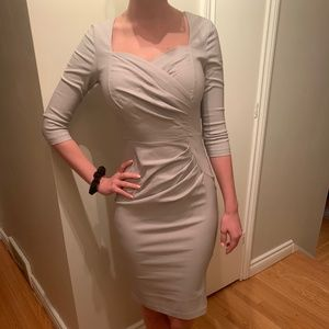 Pale grey cocktail dress